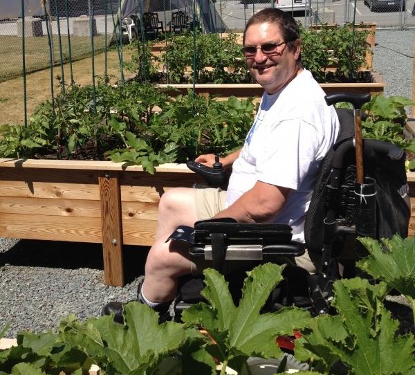 Rick in garden